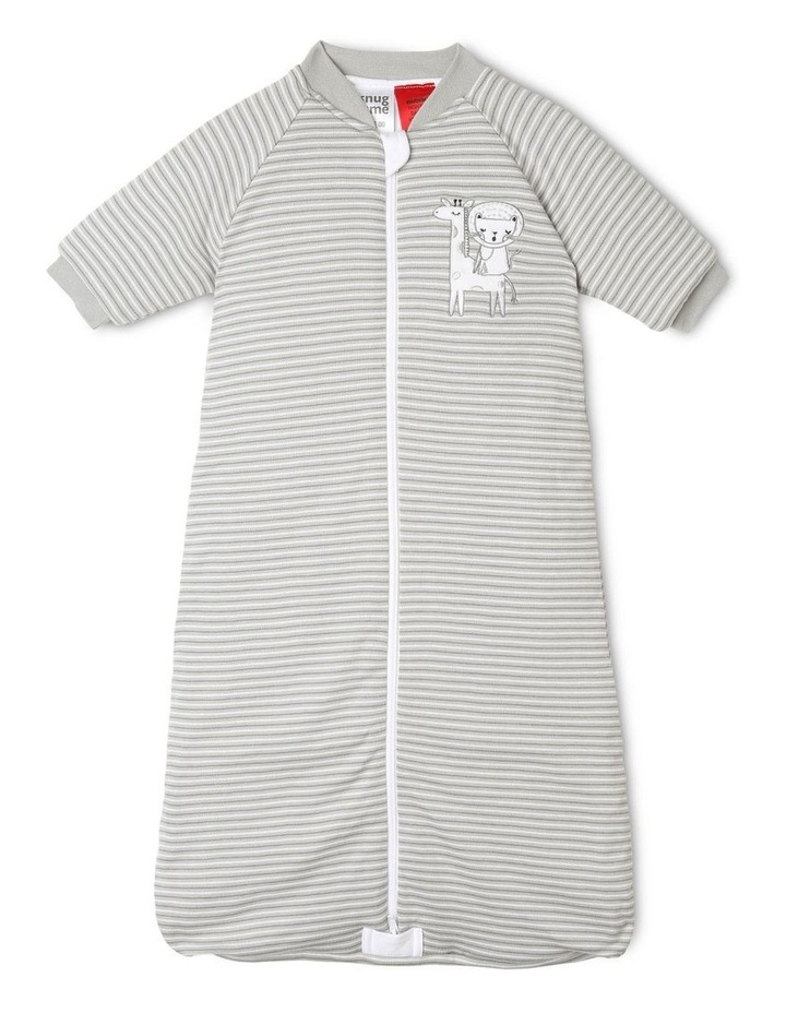 Long Sleeve Padded Cosi Bag Grey Stripe image 1
