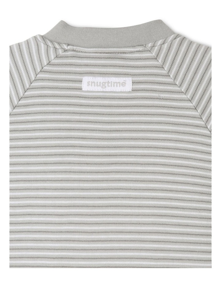 Long Sleeve Padded Cosi Bag Grey Stripe image 4