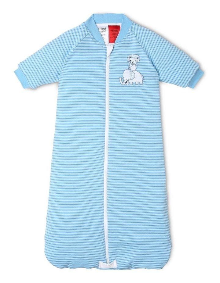 Long Sleeve Padded Cosi Bag Blue Stripe image 1