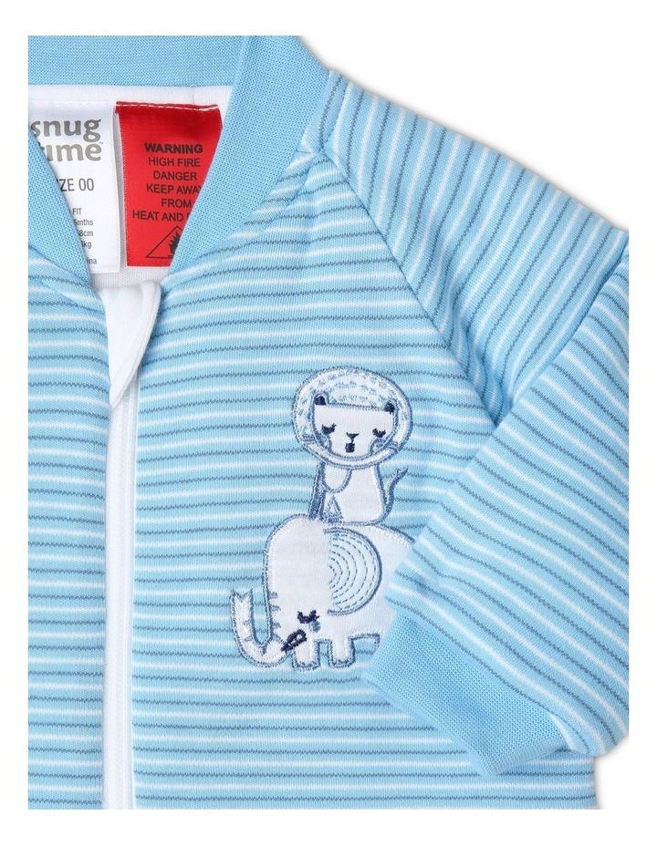 Long Sleeve Padded Cosi Bag Blue Stripe image 2