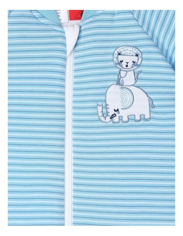 Long Sleeve Padded Cosi Bag Blue Stripe image 3