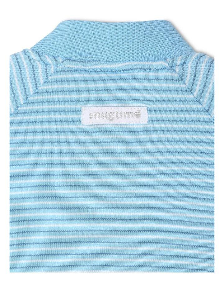 Long Sleeve Padded Cosi Bag Blue Stripe image 4