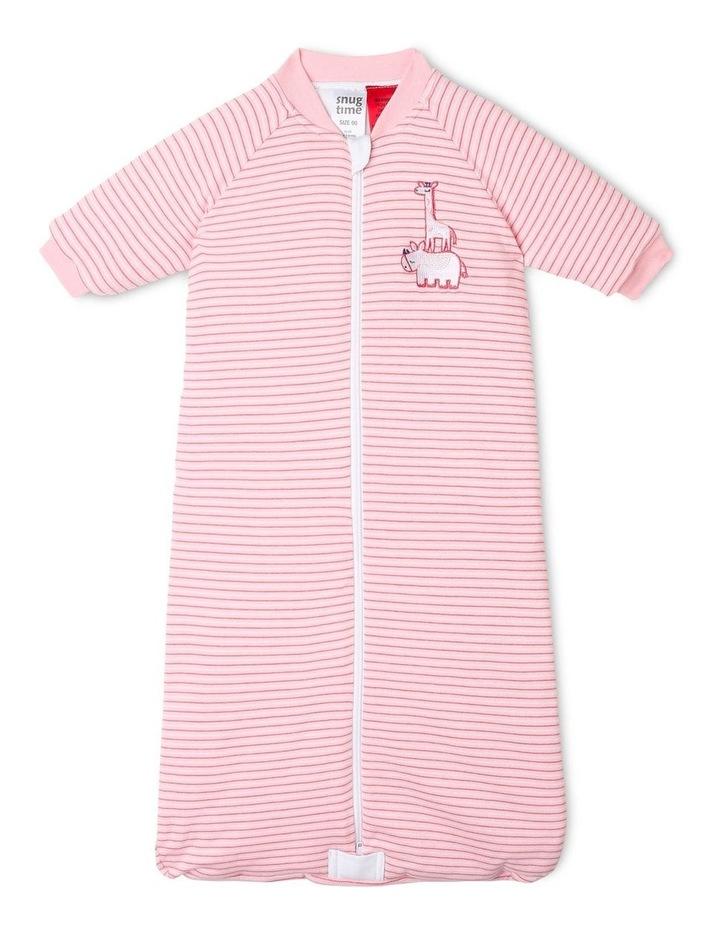 Long Sleeve Padded Cosi Bag Pink Stripe image 1
