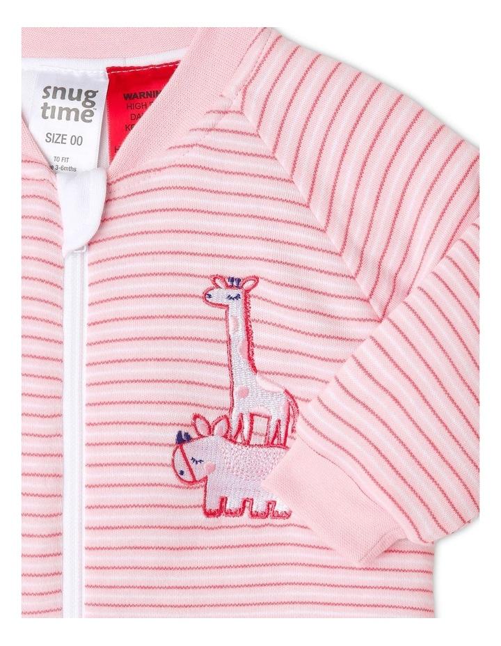 Long Sleeve Padded Cosi Bag Pink Stripe image 2
