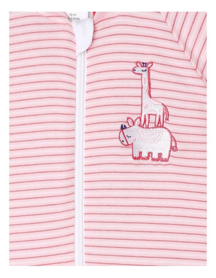 Long Sleeve Padded Cosi Bag Pink Stripe image 3