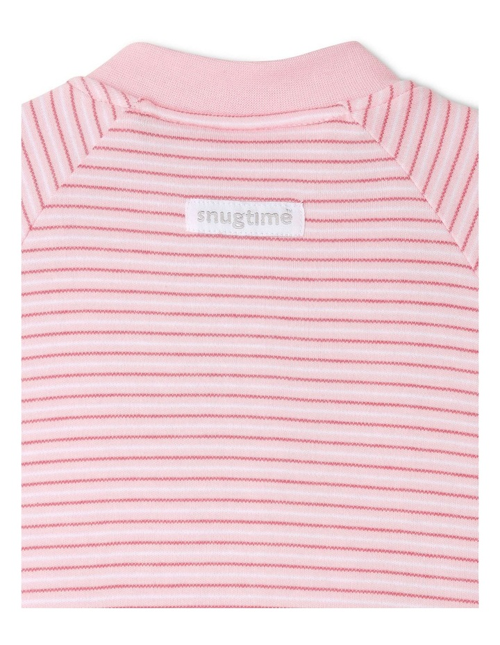 Long Sleeve Padded Cosi Bag Pink Stripe image 4