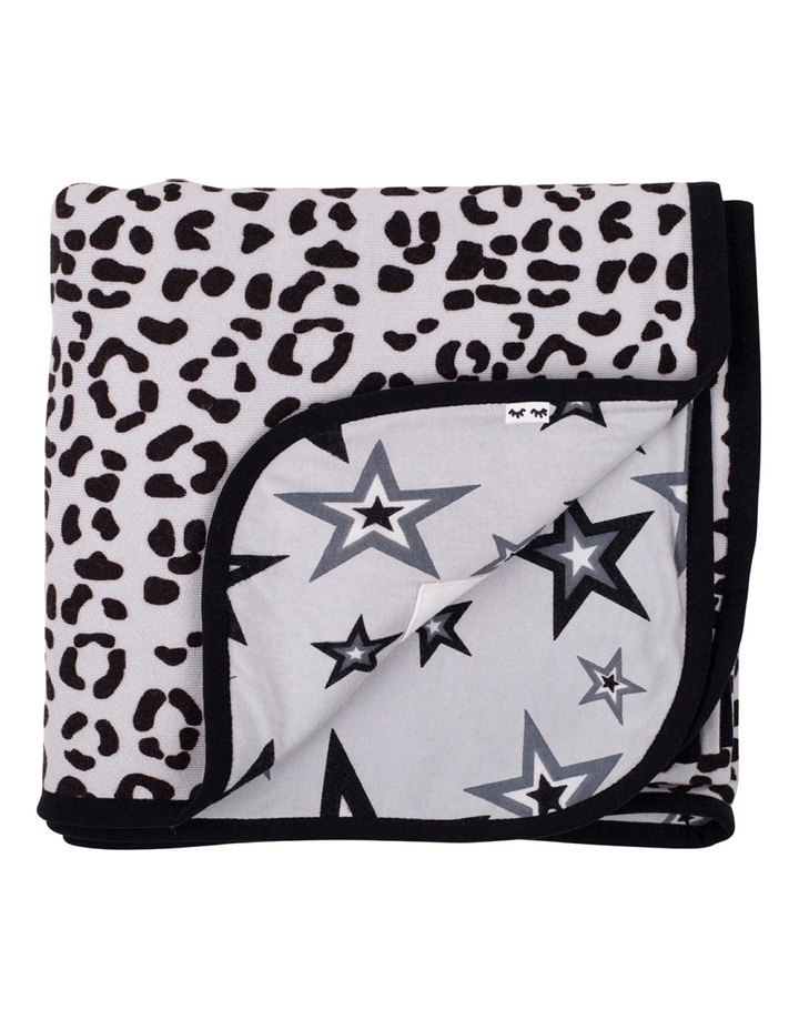 Leopard/Star Two Faced Blanket image 1