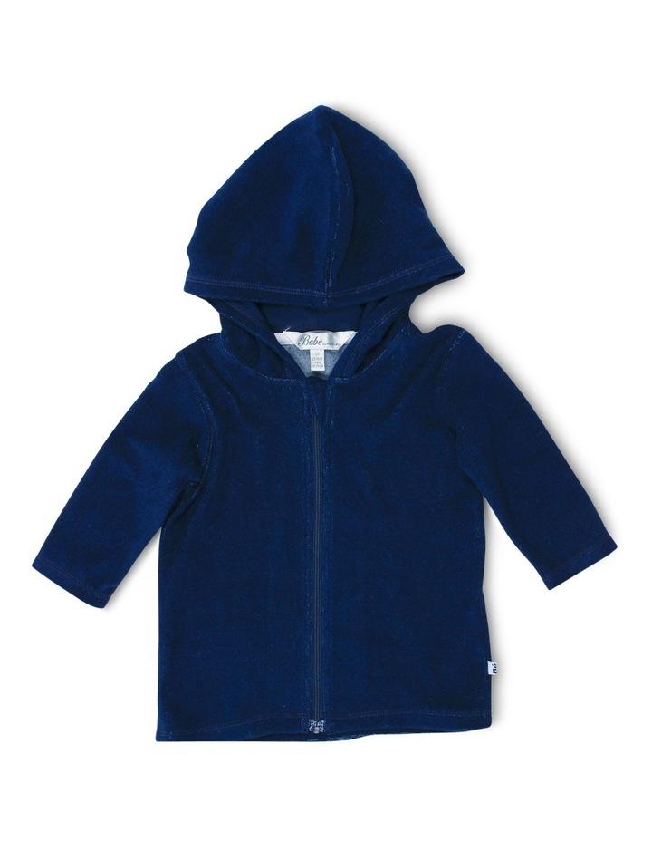 Caleb Long Sleeve Zip Hooded Towel Jacket image 1
