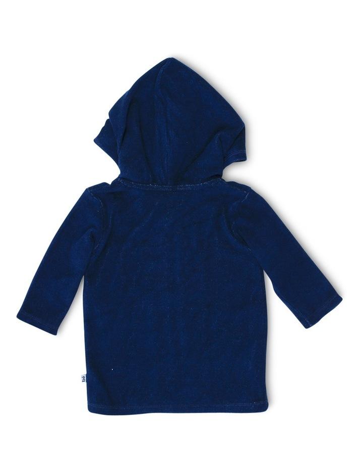 Caleb Long Sleeve Zip Hooded Towel Jacket image 2