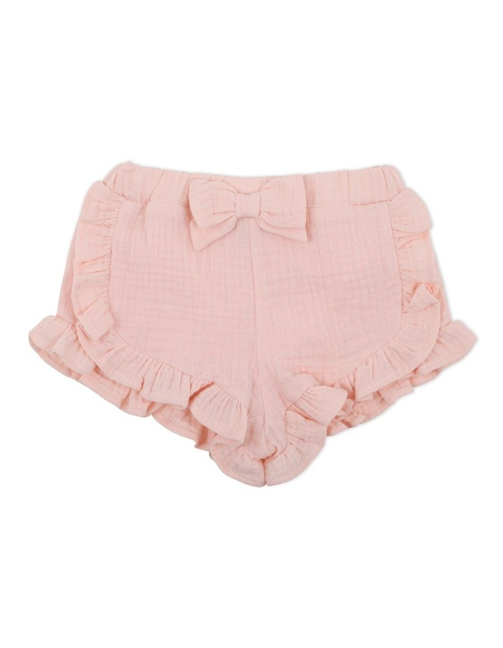 Crinkle Shorts Pale Pink image 1