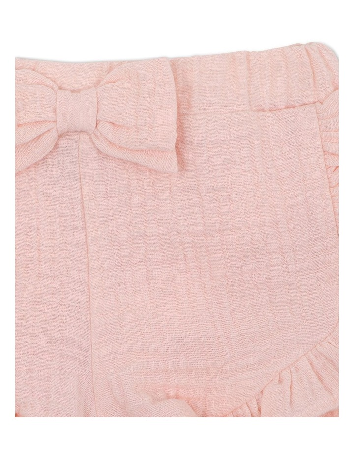 Crinkle Shorts Pale Pink image 3