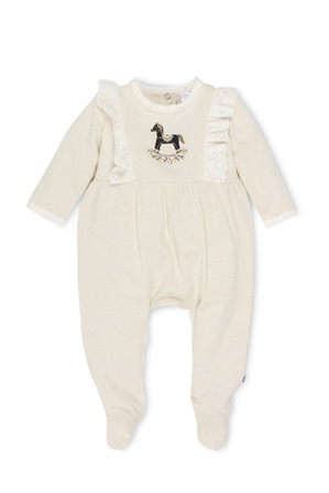 Bebe - Claire long sleeve coverall with feet