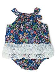 Grace Floral Woven Bodysuit