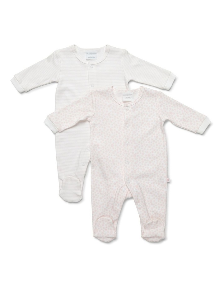 Girl's two-pack footed studsuit image 1
