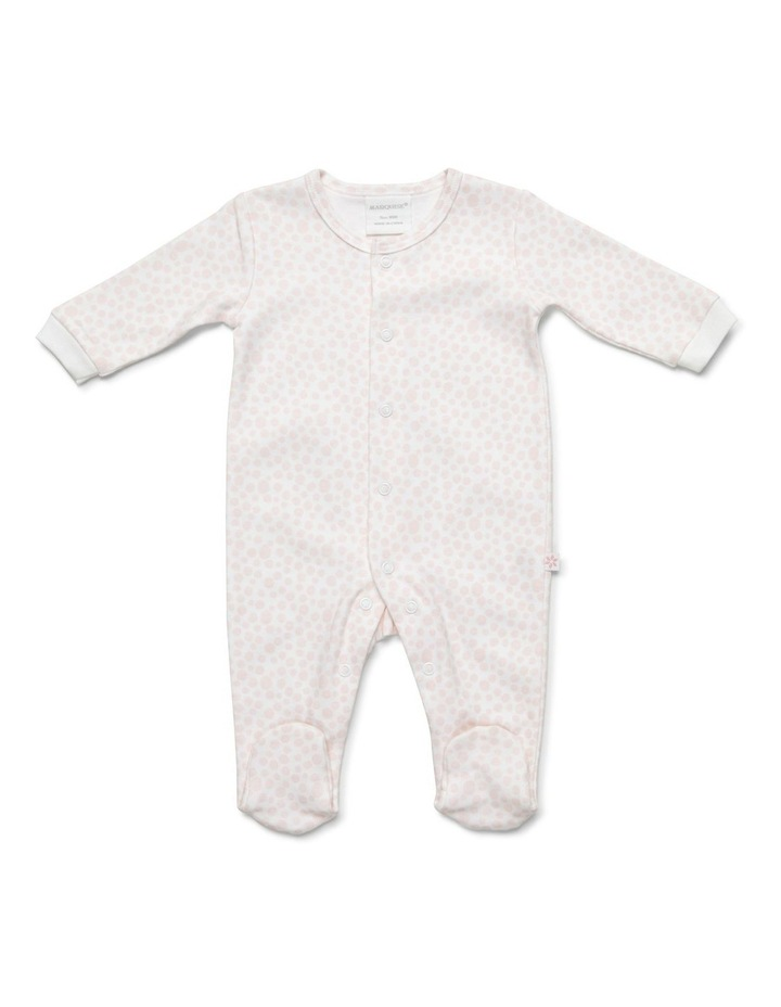 Girl's two-pack footed studsuit image 3