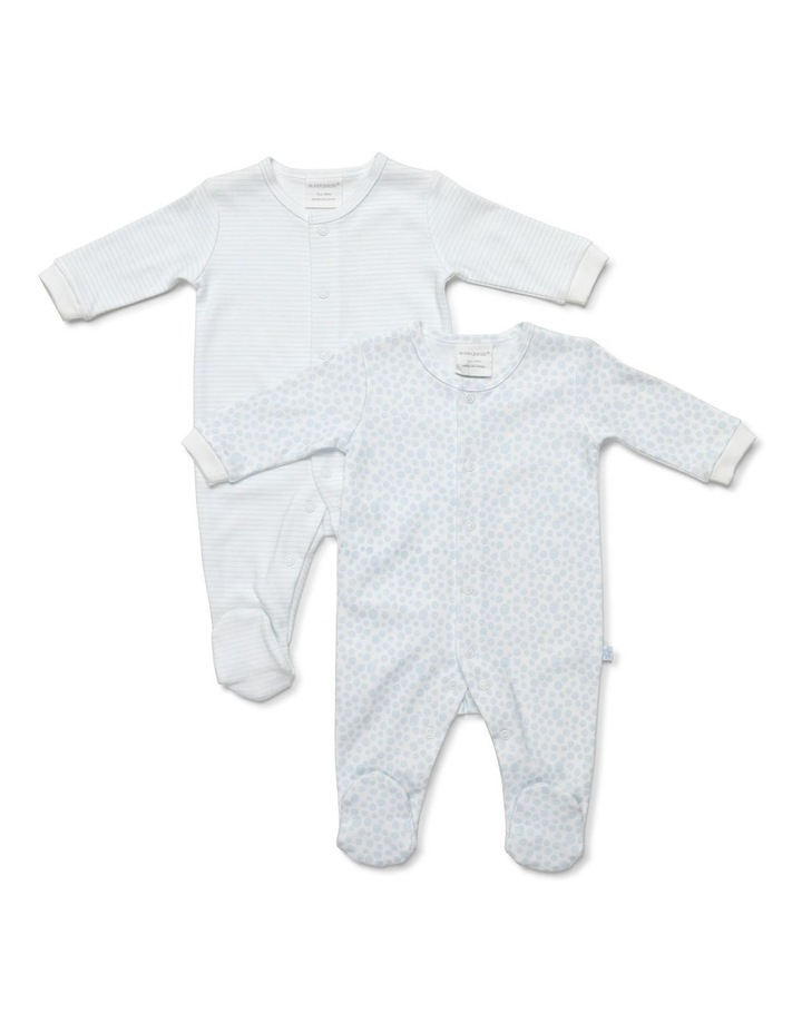 Boy's two-pack footed studsuit image 1