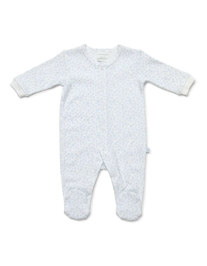 Boy's two-pack footed studsuit image 3