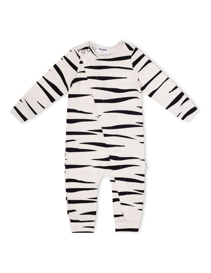 Zebra Skinny Onesie image 1
