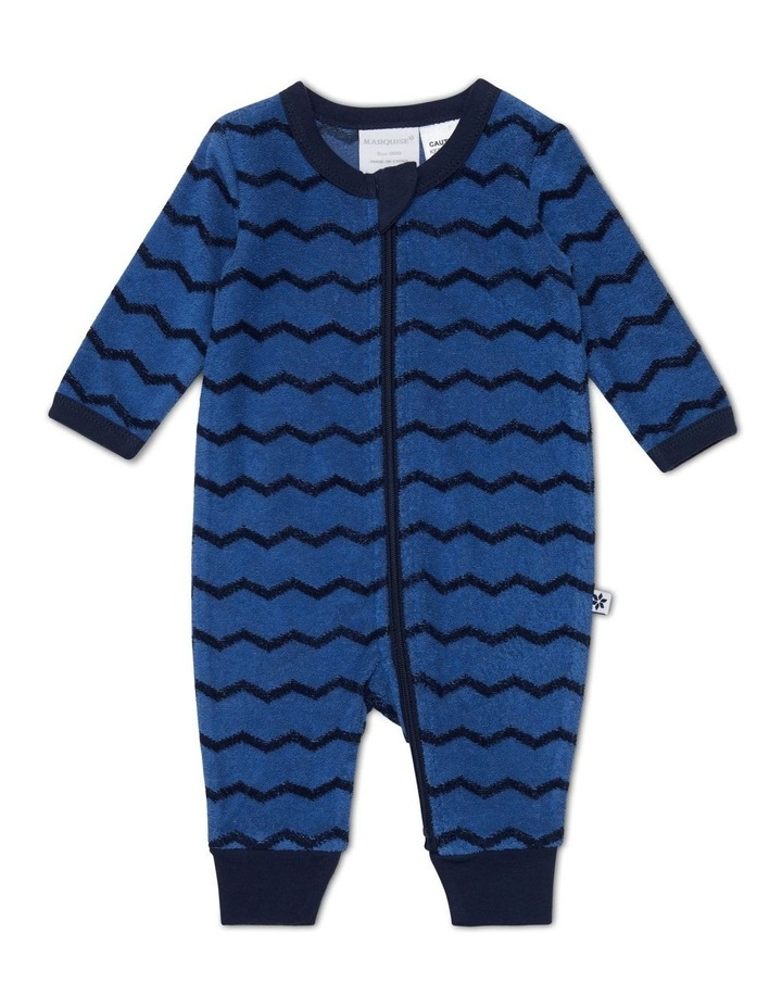 Blue Terry Towelling Zipsuit image 1