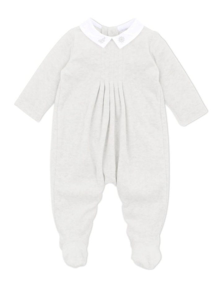 George Light Grey Velour Romper image 1
