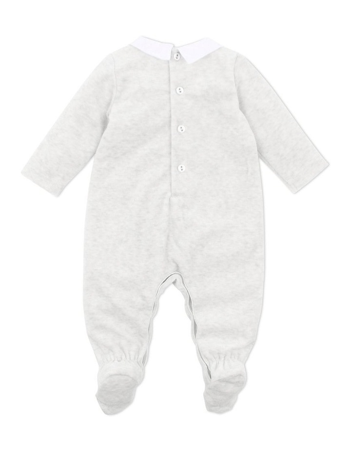 George Light Grey Velour Romper image 2