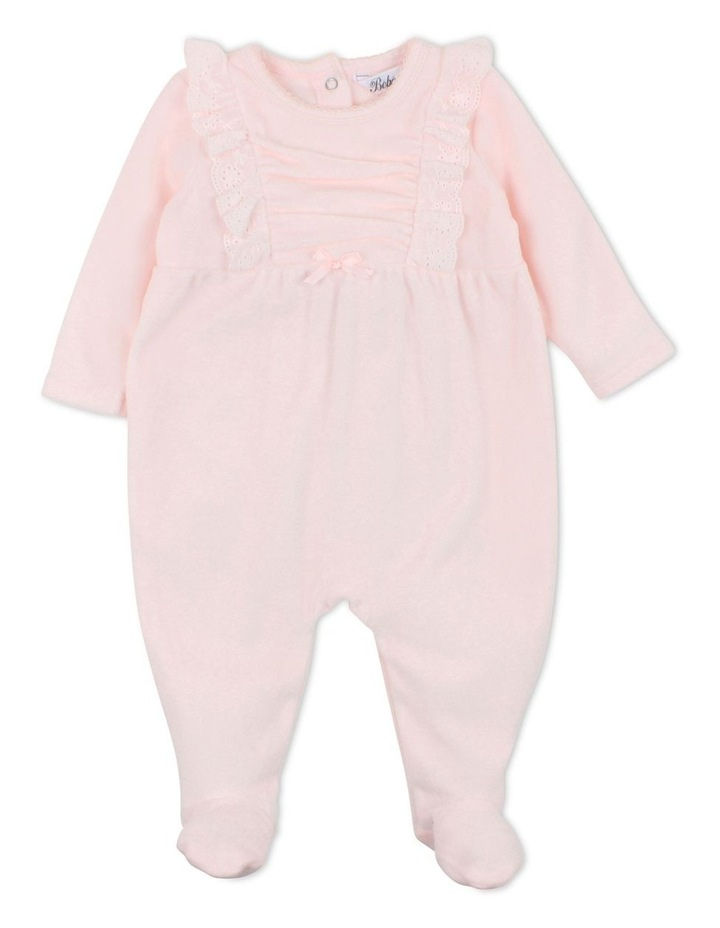 Penny Pink Velour Romper image 1