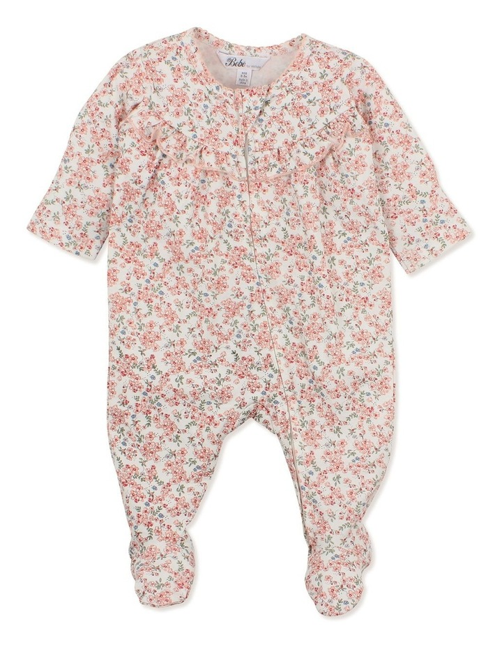 Lily Long Sleeve Gathered Zip Romper image 1