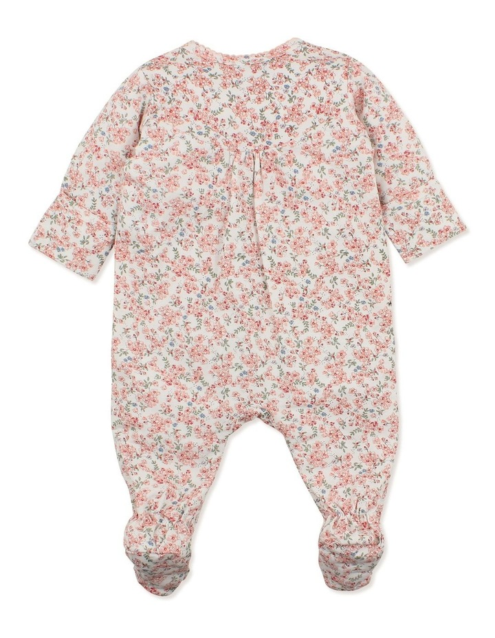 Lily Long Sleeve Gathered Zip Romper image 2
