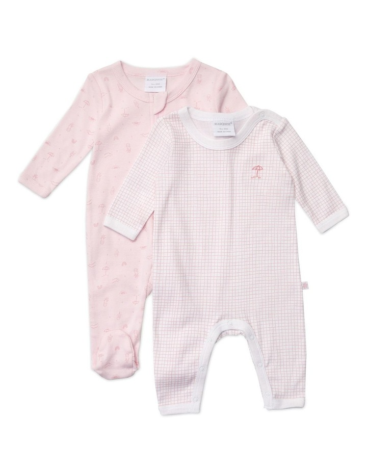 2 Pack Girls Growsuits Fairy Pink image 1