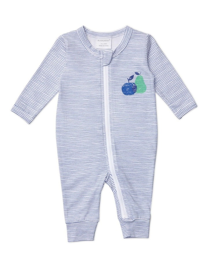 Boys Zipsuit Stripe With Apple/Pear image 1