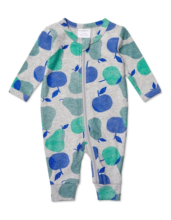Boys Zipsuit Apples And Pears image 1