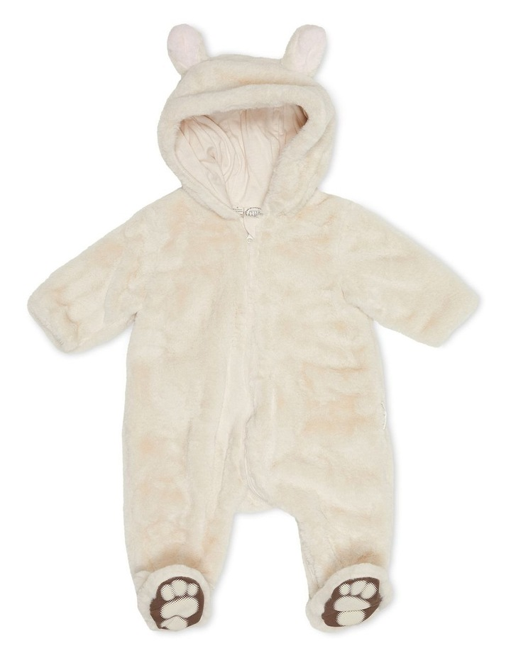 Faux Fur Bunnysuit Sand image 1