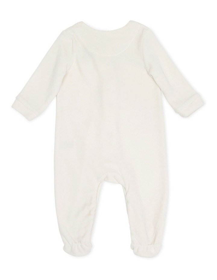 Velour Snap Front Coverall Sand image 3