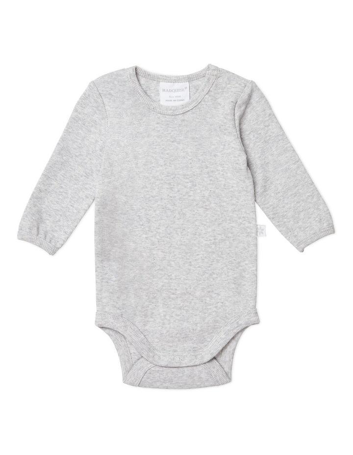Grey Marle Long Sleeved Bodysuit image 1