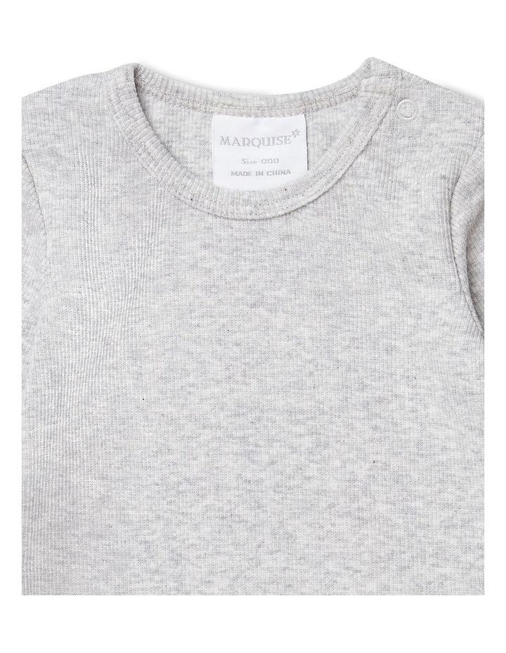 Grey Marle Long Sleeved Bodysuit image 2