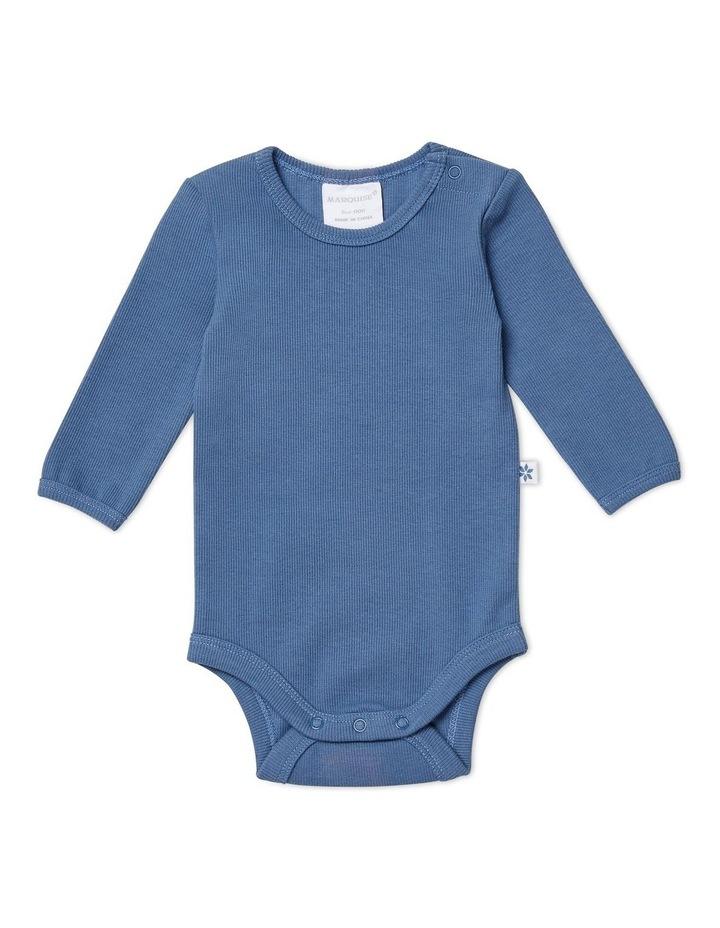Steel Blue Long Sleeved Bodysuit image 1