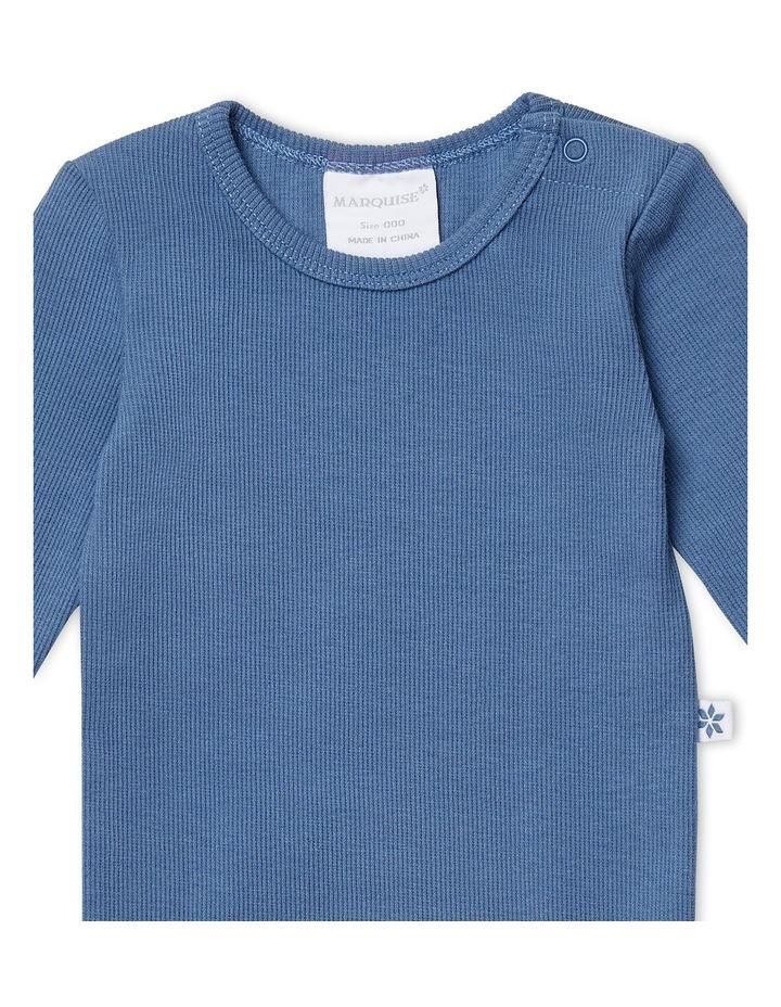 Steel Blue Long Sleeved Bodysuit image 2