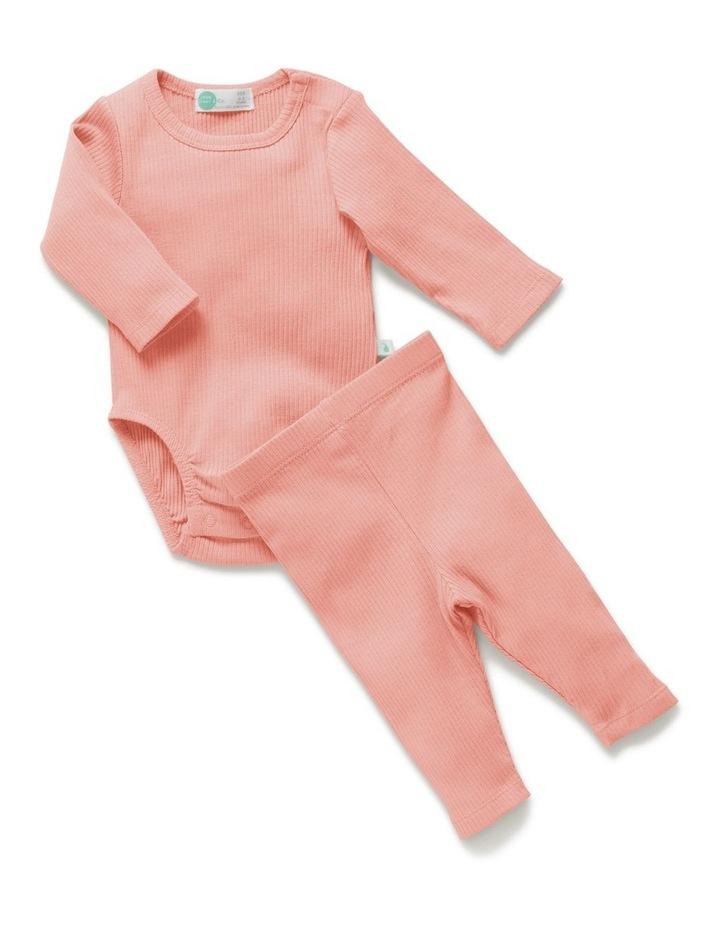 Rib Bodysuit   Legging Value Pack Peach image 1