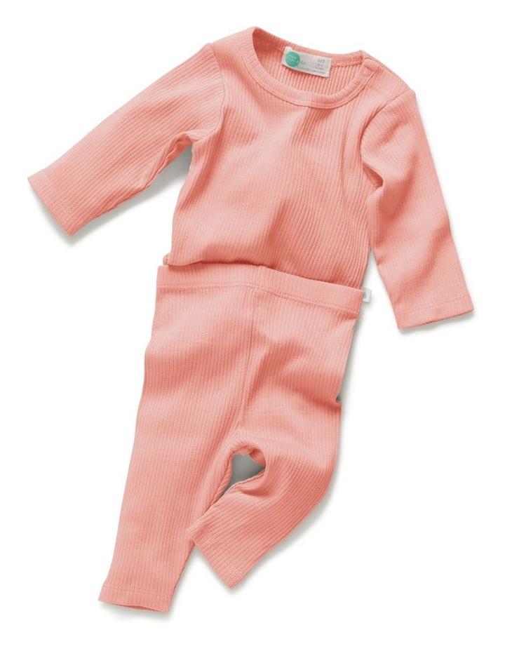 Rib Bodysuit   Legging Value Pack Peach image 2