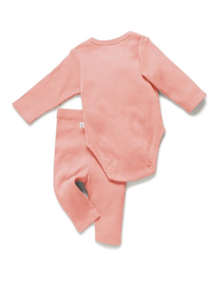 Rib Bodysuit   Legging Value Pack Peach image 3