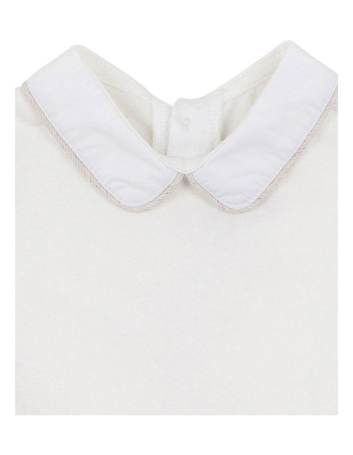 William Collared Bodysuit Cream image 3