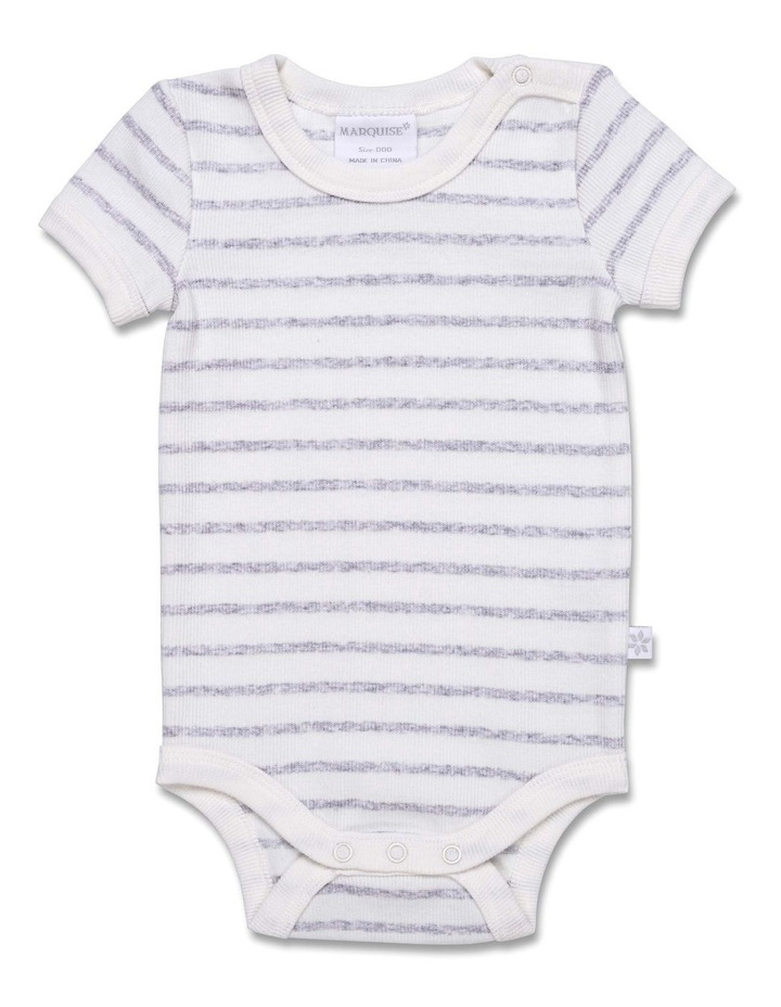 2X2 Cotton Elastane Short Sleeve Bodysuit image 1