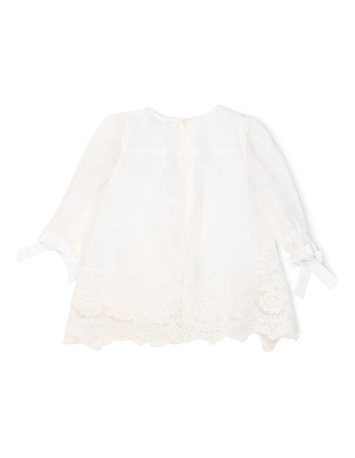 GIRLS PLEATED LACE DRESS image 2