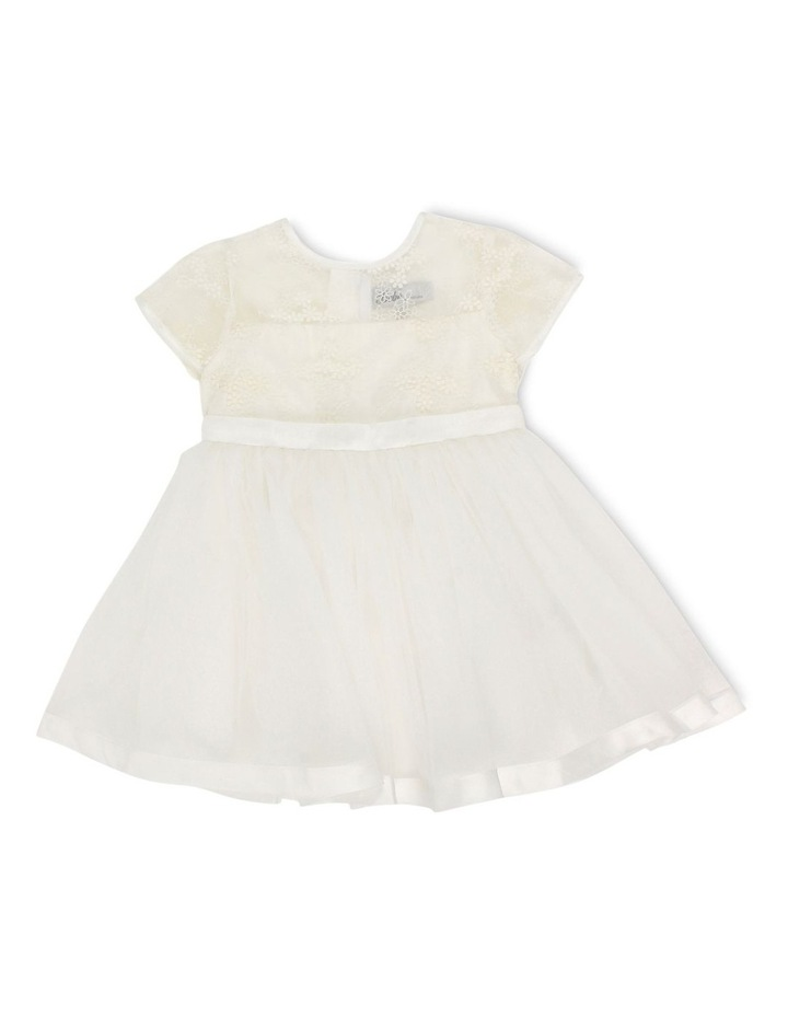 S/S ORGANZA DRESS WITH BOW image 1