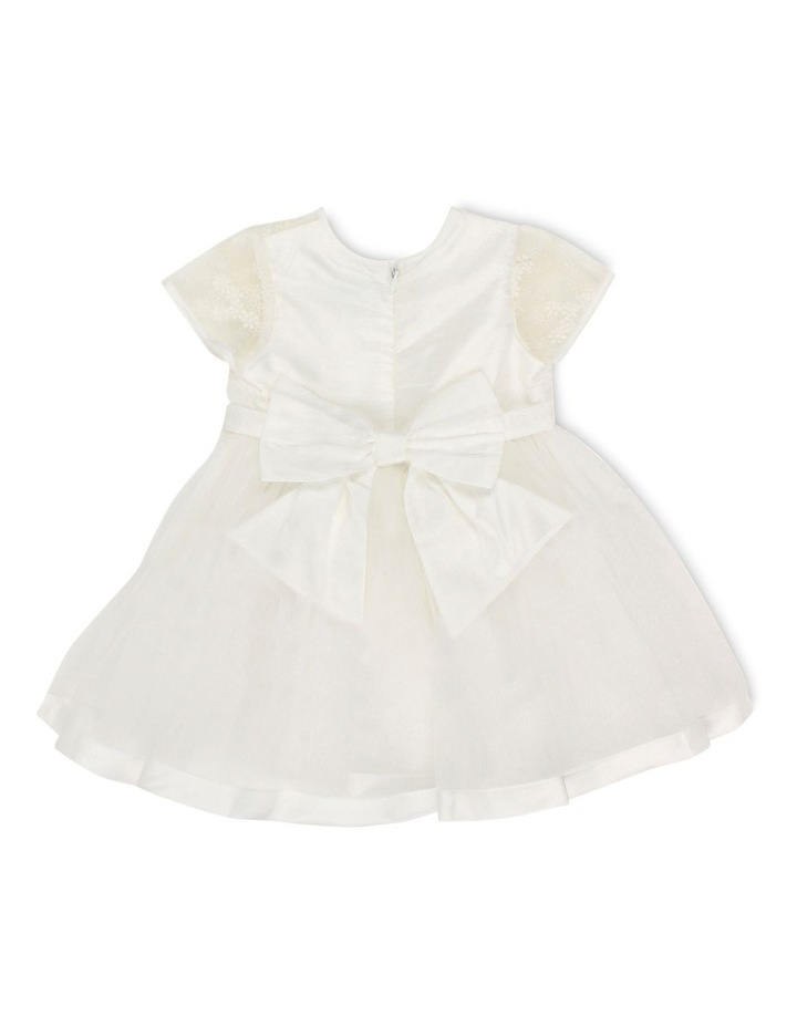 S/S ORGANZA DRESS WITH BOW image 2