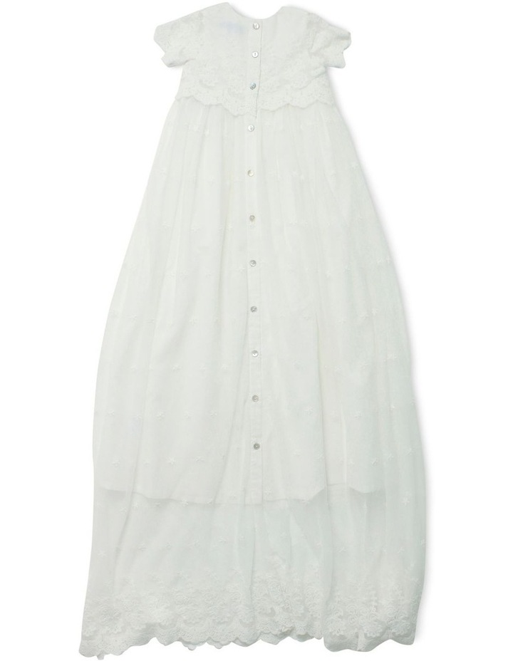 Short Sleeve Lace X Long Christening Gown image 2