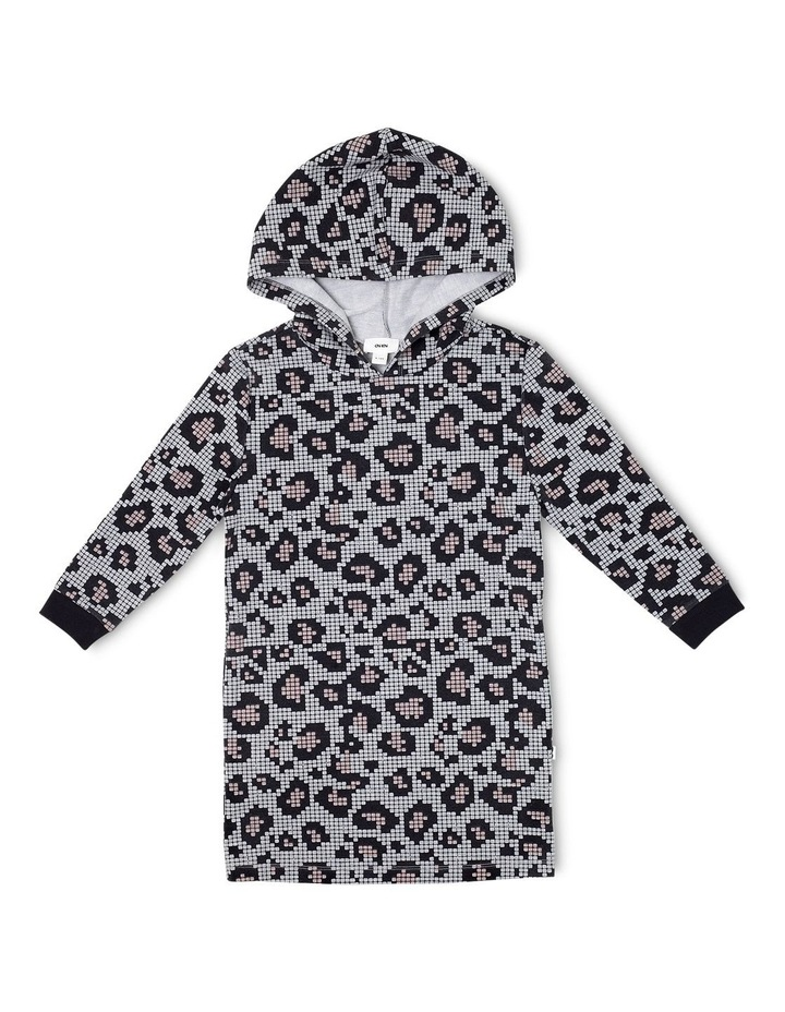 Leopard Print Hooded Dress image 1