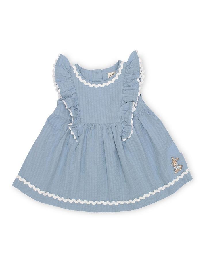Seersucker Ruffle Dress image 1