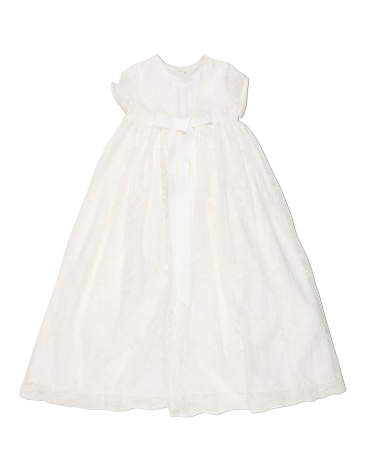 Christening Gown With Front Bow image 1