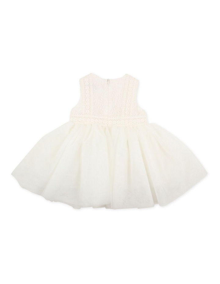 Embroidered Organza Tulle Dress Ivory image 2